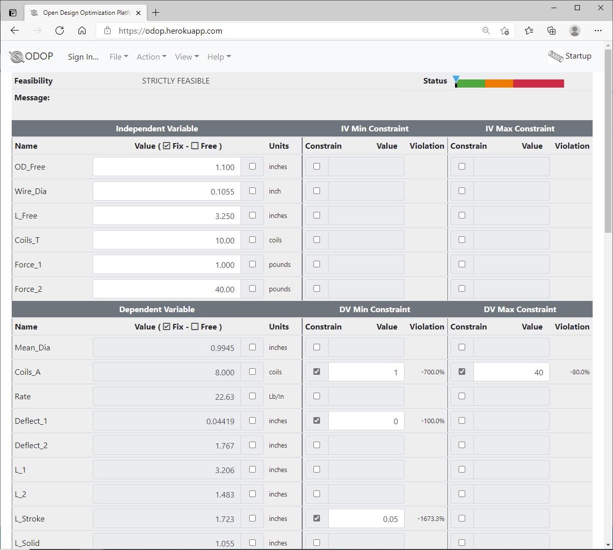 ODOP:Spring Design Software Advanced View Compression Spring US