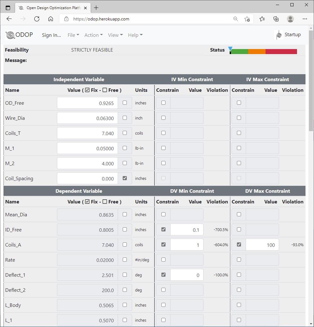 ODOP:Spring Design Software Advanced View Torsion Spring US